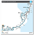 Gosford to The Entrance Route Map Thumbnail